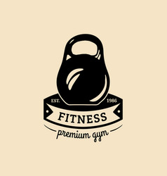 fitness logo hand sketched athletic vector image