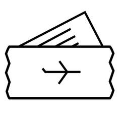 Plane ticket icon vector