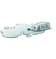 A spilt milk vector