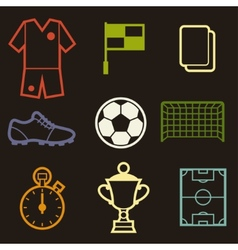 Set of sports soccer football symbols vector