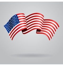 American waving flag vector