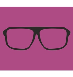 Old glasses vector image