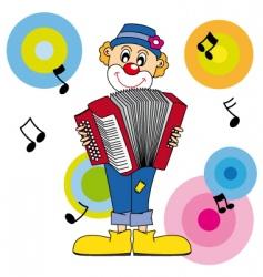clown music vector image