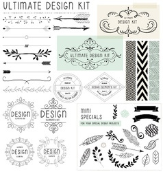 Ultimate design elements kit vector