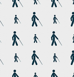 Blind icon sign seamless pattern with geometric vector
