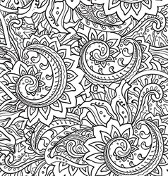 Seamless pattern with traditional oriental floral vector