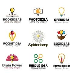 Ideas lamp Symbol Design vector image