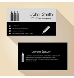 Simple half black and gray business card design vector