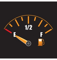 Petrol gauge vector