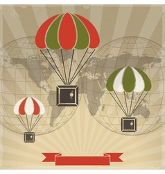 Parachutes to Parcels vector image