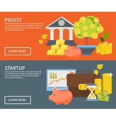 Two investment banner set vector