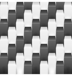 Abstract background with white and black boxes vector image