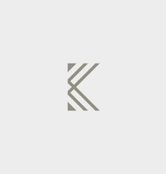 Abstract letter k logo design linear elegant vector