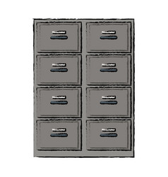 Cabinet office document organization archive file vector