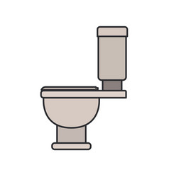 Color image of toilet icon side view vector