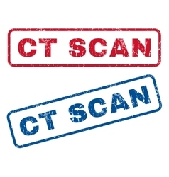 Ct scan rubber stamps vector