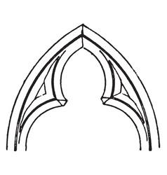 Cusps filleted vintage engraving vector