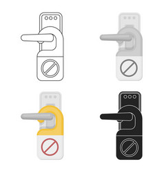do not disturb sign icon in cartoon style isolated vector image