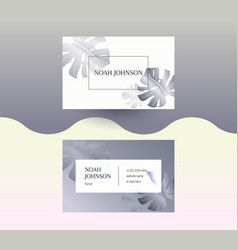 Double-sided business card in graphite color vector