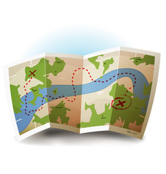 Earth map icon vector