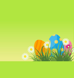 easter egg greeting card flat vector image