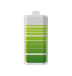 Eco battery isolated icon vector
