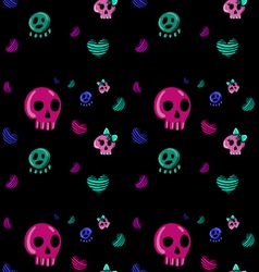 Emo style seamless pattern vector