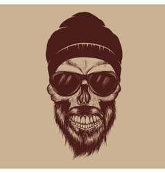 Fashionable skull vector image vector image