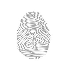 fingerprint icon vector image
