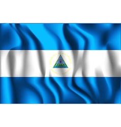 Flag of nicaragua rectangular shaped icon vector