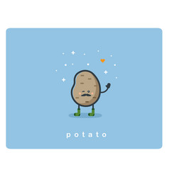 flat potato icon food cartoon cute character vector image vector image