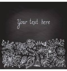 Floral doodle vintage background vector