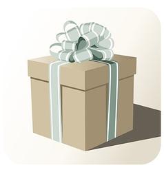 Gift box whit big ribbon vector image vector image