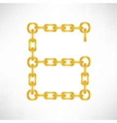 Gold number 6 vector