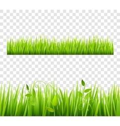 Grass border tileable transparent vector