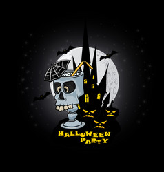 halloween party for poster or vector image vector image