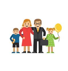happy cartoon family vector image vector image