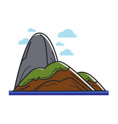 Island with big stone vector