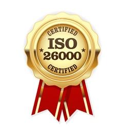Iso 26000 standard rosette - social responsibility vector