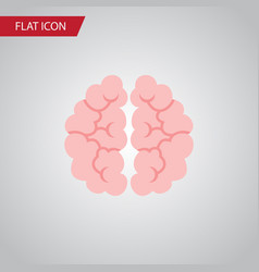 Isolated mentality flat icon mind element vector