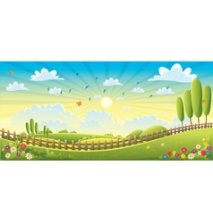 Landscape Scene vector image vector image