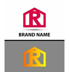 Letter R logo icon vector image vector image