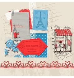 Paris Vintage Set vector image vector image