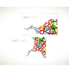 rainbow numbers gift cards vector image