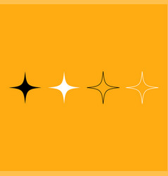 star it is white icon vector image vector image
