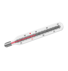thermometer medical instrument vector image