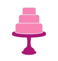 Tiered cake label vector
