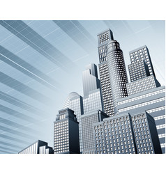 Urban city business background vector