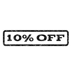 10 percent off watermark stamp vector image