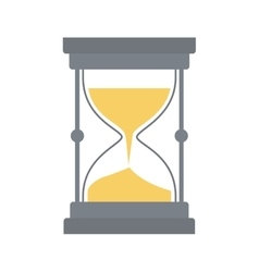 Hourglass traditional time instrument icon vector